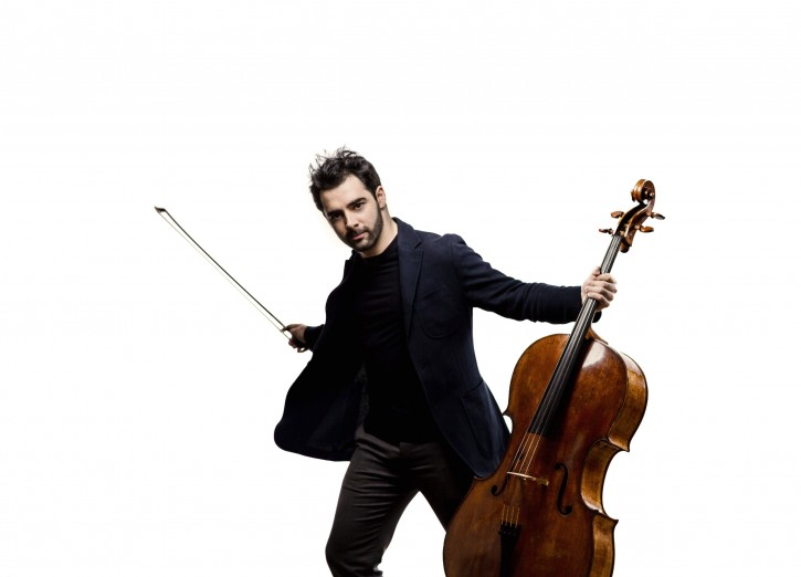 Pablo Ferrández with cello against a white background