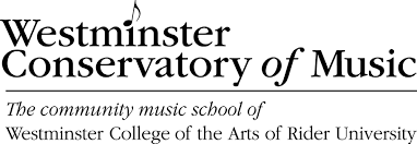 Westminster Conservatory black and white logo