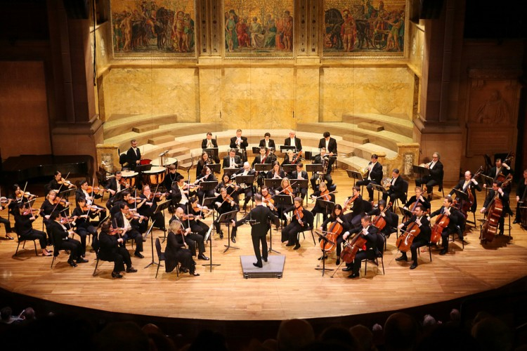 Princeton Symphony Orchestra performing at Richardson Auditorium