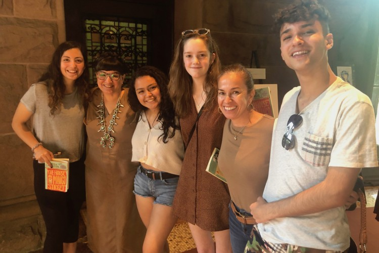 Sandra Cisneros with Pennington School students