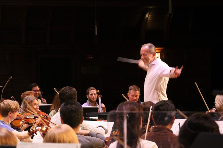 Rossen Milanov and the PSO in rehearsal