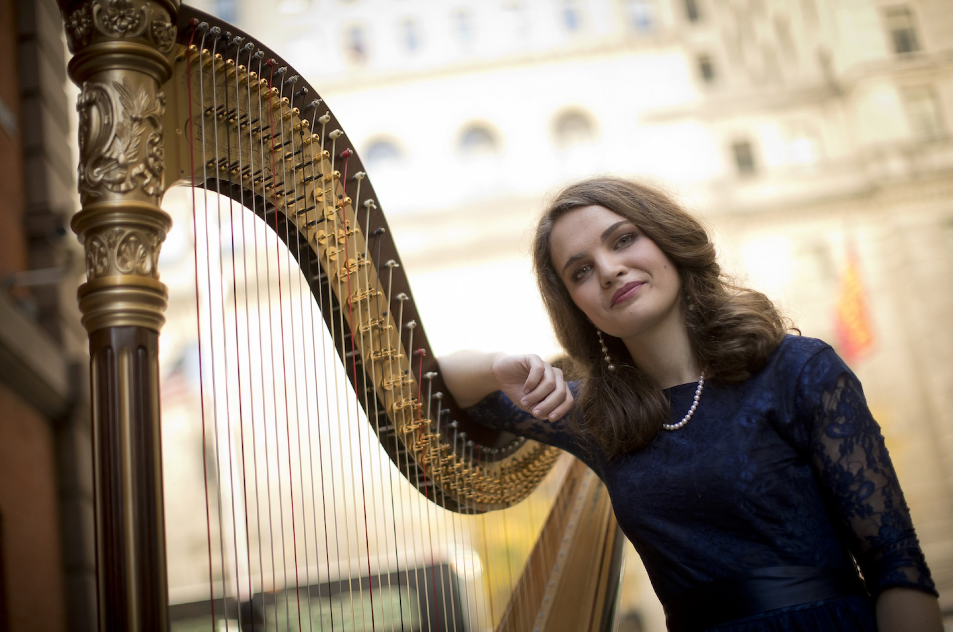 Harpist Rachel Lee Hall