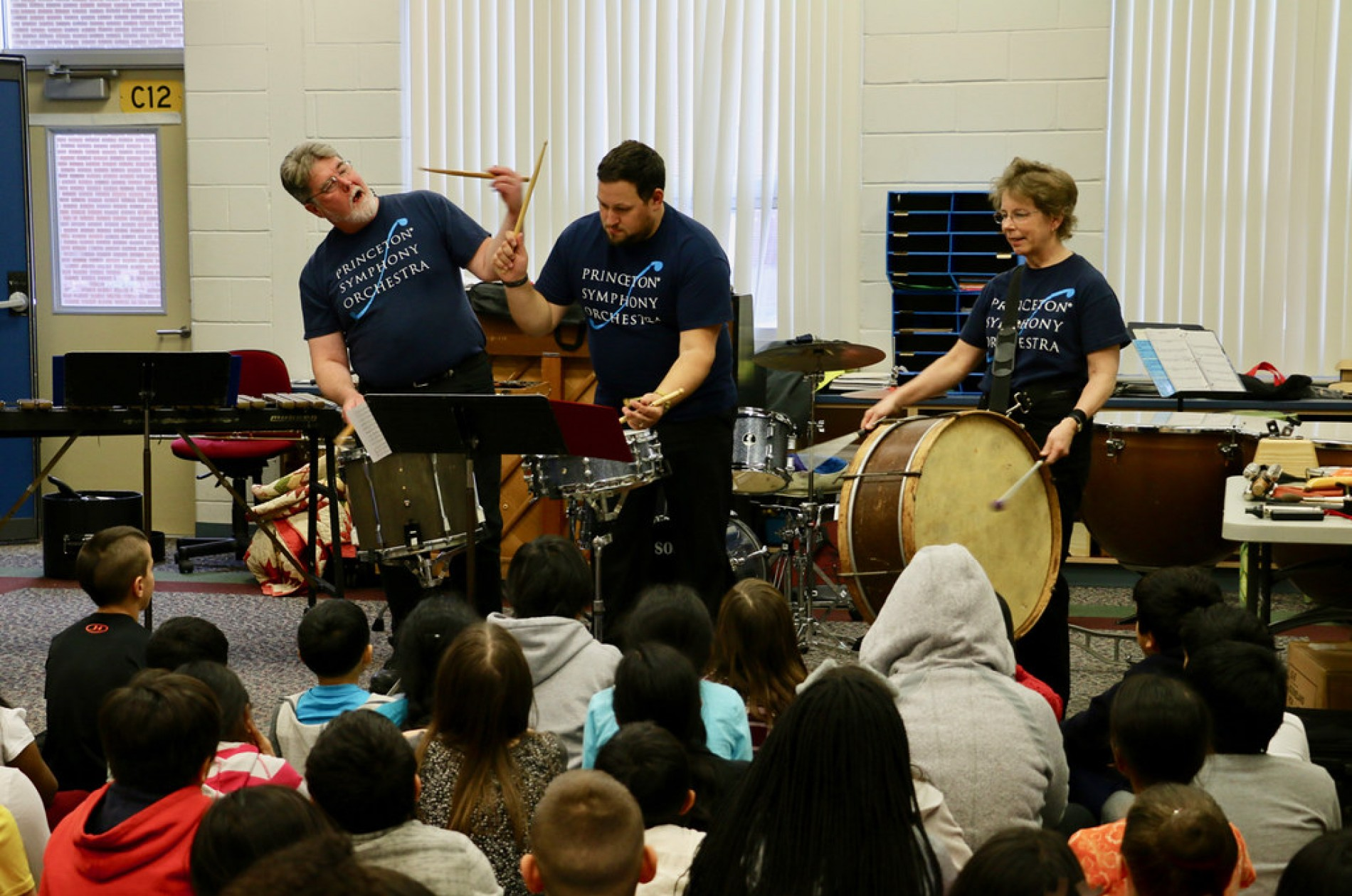 Members of the PSO BRAVO! Percussion Ensemble