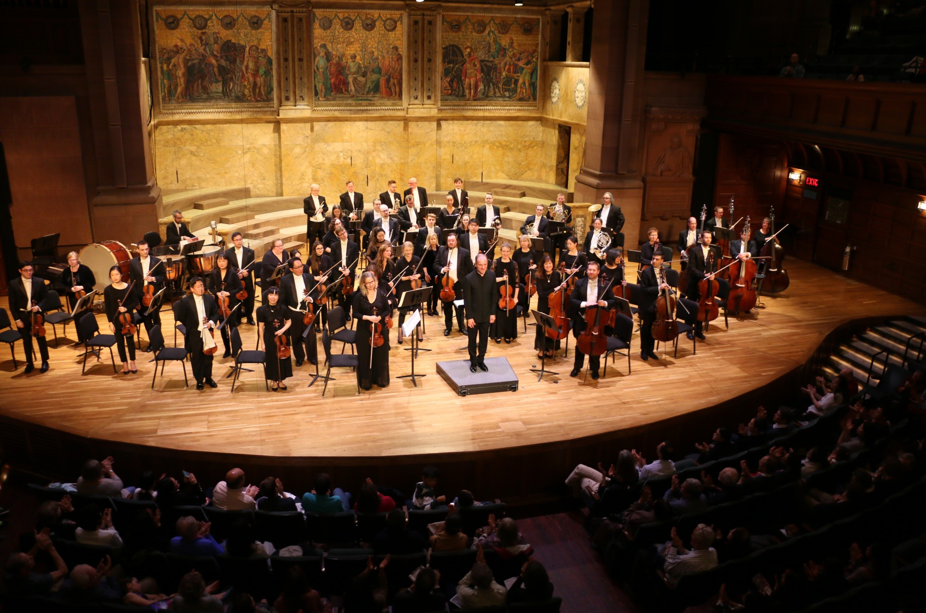 Princeton Symphony Orchestra onstage with Rossen Milanov